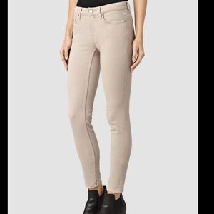 AllSaints Mase skinny jeans in dusty rose